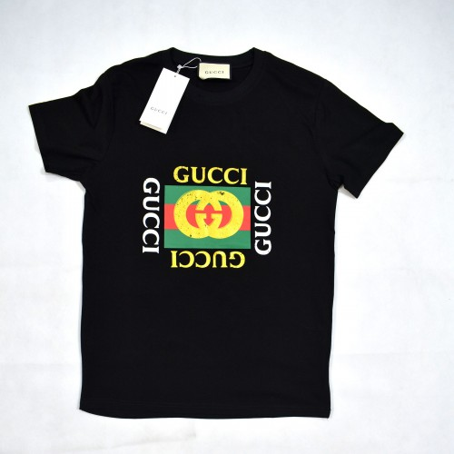 GG Box Logo Gold Matte Tee Black